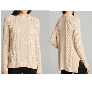 Theory Cable Knit Alpaca Blend Crewneck Sweater